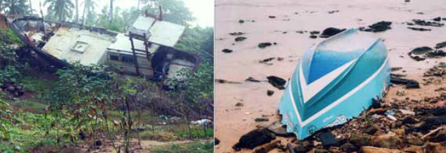 AN EXAMPLE OF THE POWER OF THE TSUNAMI AND ALL THAT WAS