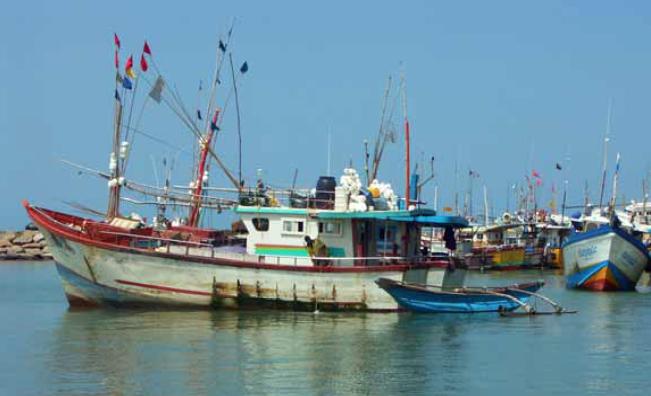 Tangalle ocean trawlers.